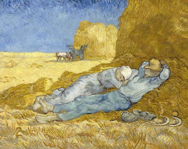 Painting - Noon - Rest From Work by Vincent Van Gogh