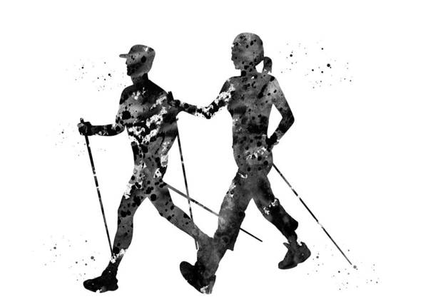 Nordic Digital Art - Nordic Walking by Erzebet S