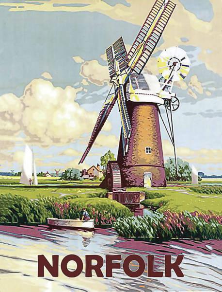 Windmill Digital Art - Norfolk by Long Shot