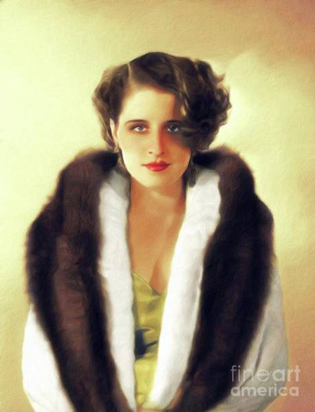 Norma Wall Art - Painting - Norma Shearer, Vintage Actress by John Springfield