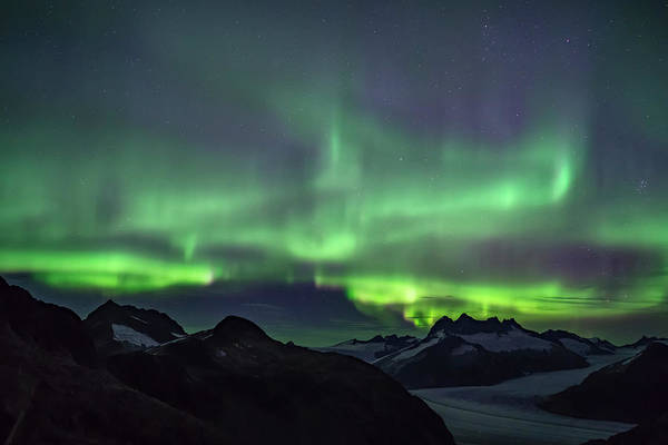 Wall Art - Photograph - Northern Lights Glowing Over The Juneau by John Hyde