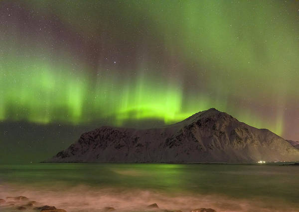Wall Art - Photograph - Northern Lights Over Flakstad by Martin Zwick