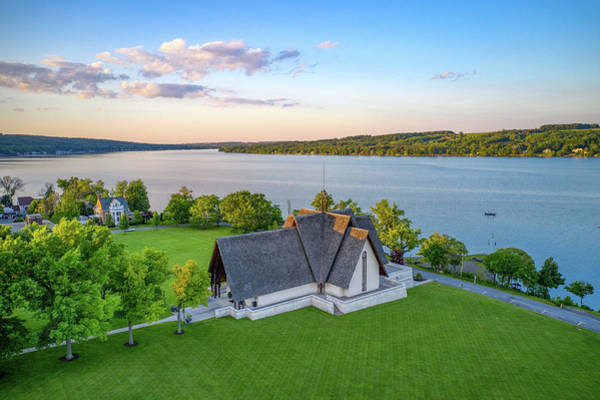 Photograph - Norton Chapel Upstate New York  by Ants Drone Photography