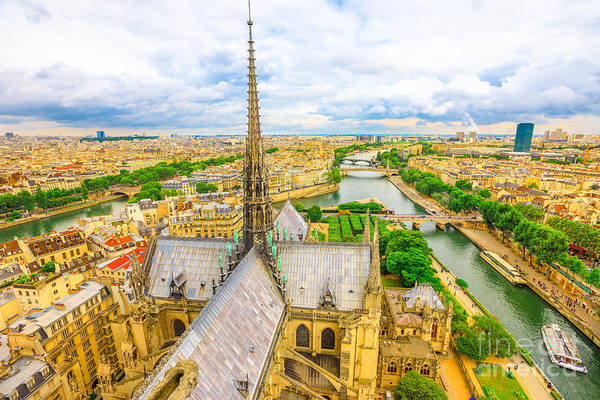 Photograph - Notre Dame Spire by Benny Marty