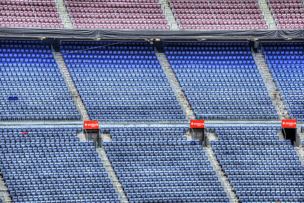 Wall Art - Photograph - Nou Camp Stadium Seating Barcelona  by David Pyatt