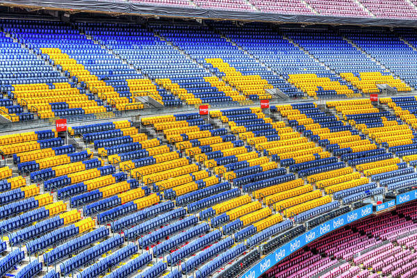 Wall Art - Photograph - Nou Camp Stadium Seating  by David Pyatt