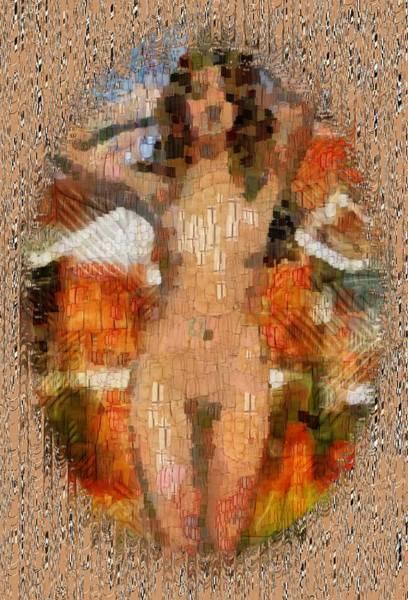Digital Art - Nude Illustrative by Mario Carini