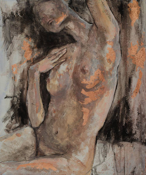 Wall Art - Painting - Nude - In Motion Series by Dorina Costras