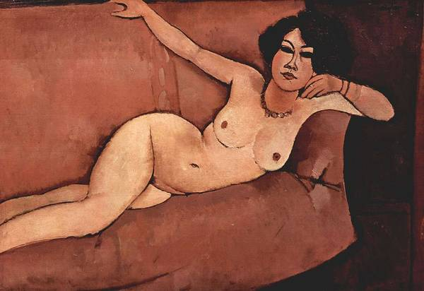 Wall Art - Painting - Nude On Sofa  Almaiisa   by Amedeo Modigliani