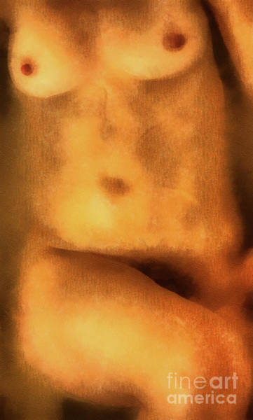 Wall Art - Digital Art - Nude - Torso Of A Naked Woman by Michal Boubin