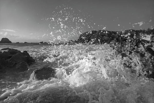 Wall Art - Photograph - Ocean Wave Splash In Black And White by Betsy Knapp