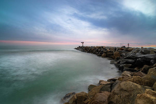 Wall Art - Photograph - Oceanside Harbor Jetty Sunset by Larry Marshall