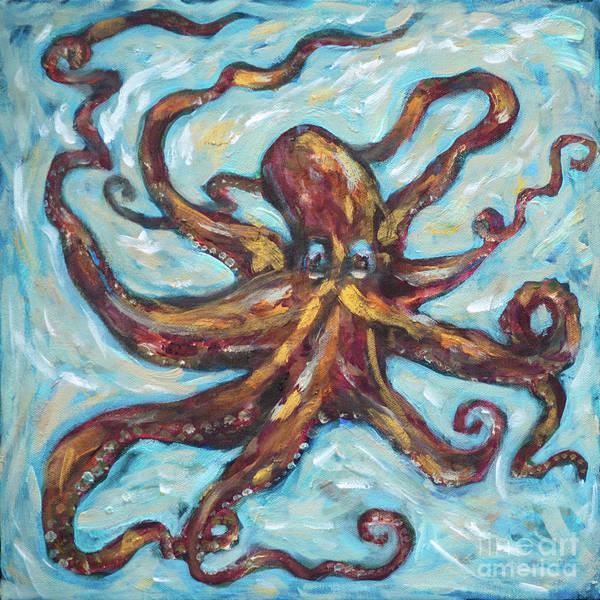 Painting - Octopus Copper by Linda Olsen