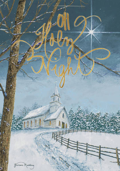 Wall Art - Painting - Oh Holy Night by James Redding