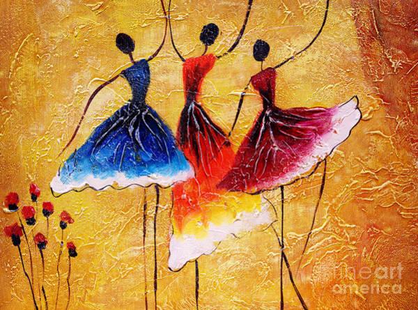 Dancing Digital Art - Oil Painting - Spanish Dance by Cyc