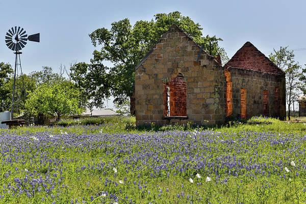 Wall Art - Photograph - Old Abandoned Building, Cherokee, Texas by Darrell Gulin
