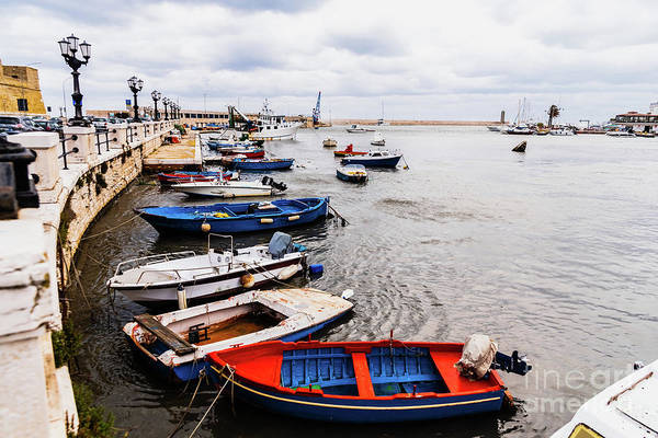 Photograph - Old Fishing Boats Moored To Port D by Joaquin Corbalan