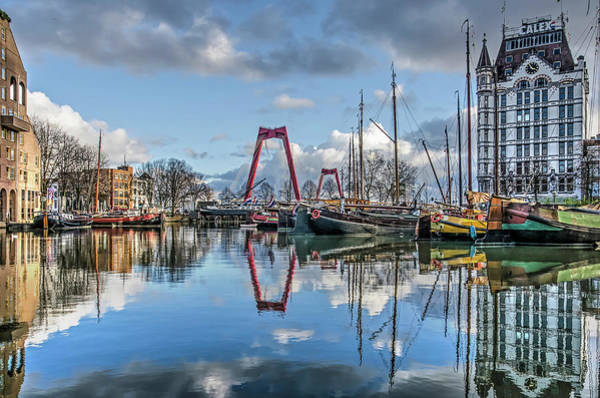 Photograph - Old Harbour Reflection by Frans Blok