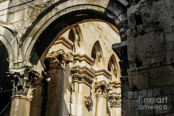 Photograph - old town of Split, medieval city  by Joaquin Corbalan