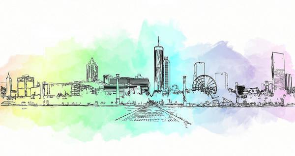 Mixed Media - Olympic Park Atlanta by Cyndy Doty