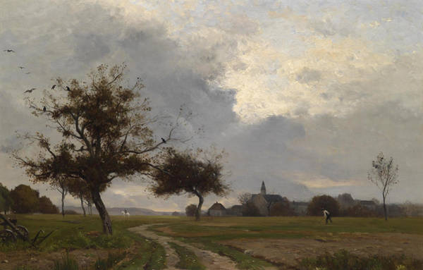 Painting - On The Field by Eugene Lavieille