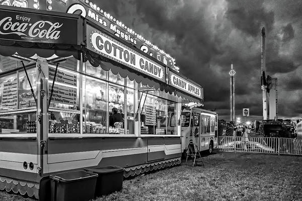 Bolton Photograph - On The Midway - Temptations Of The Night 4 Bw by Steve Harrington