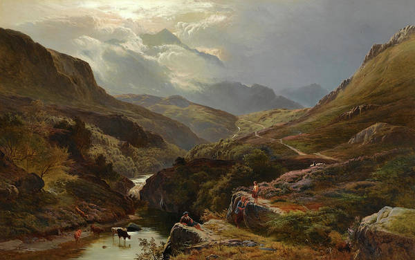 Wall Art - Painting - On The Road To Loch Turret, Crieff by Sidney Richard Percy