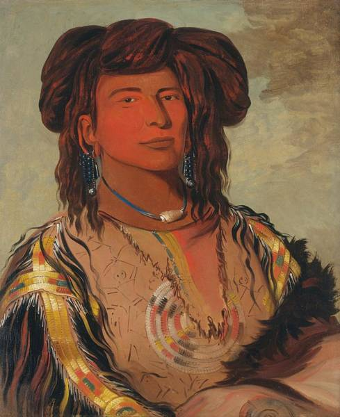 Wall Art - Painting - One Horn, Head Chief Of The Miniconjou Tribe by George Catlin
