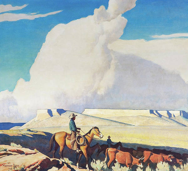 Wall Art - Painting - Open Range by Maynard Dixon