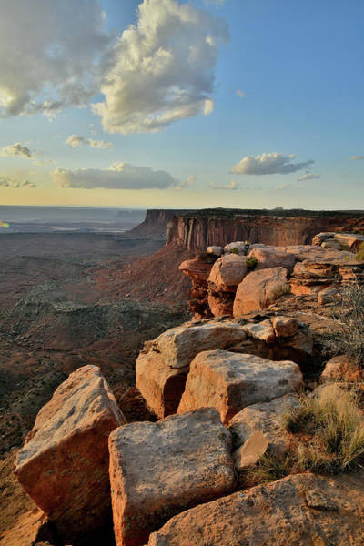 Photograph - Orange Cliffs Sunset In Canyonlands Np by Ray Mathis