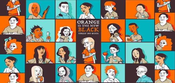 Wall Art - Digital Art - Orange Is The New Black by Geek N Rock