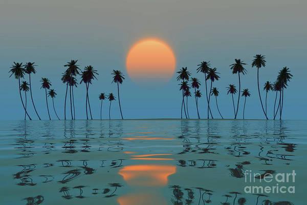 Wall Art - Photograph - Orange Sun Over Island by Aleksey Tugolukov