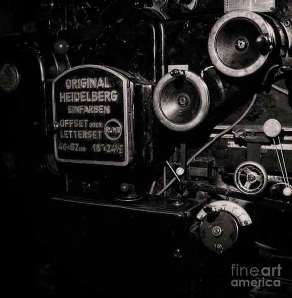 Photograph - Original Heidelberg Offset Press by Doc Braham