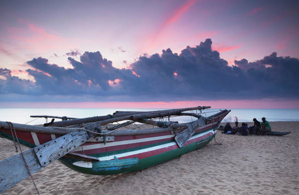 Canoe Photograph - Oruwa Outrigger Canoe On Beach At by Ian Trower / Robertharding