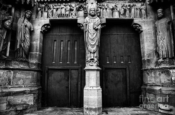 Photograph - Our Lady Of Reims - Exterior Doors by Doc Braham