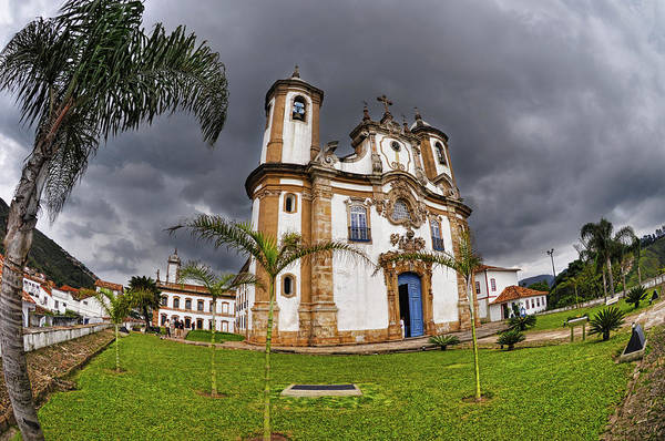 Fish Eye Lens Photograph - Ouro Preto by Photo By William Giles