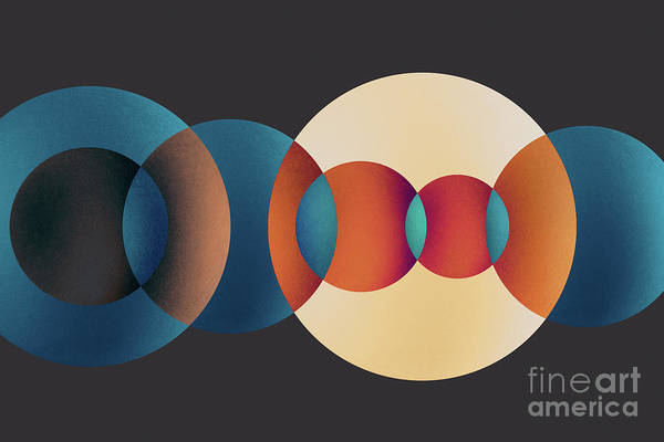 Wall Art - Photograph - Overlapping Multi-colored Circles by Miragec