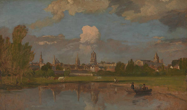 Wall Art - Painting - Oxford From The River With Christ Church In The Foreground by William Turner of Oxford
