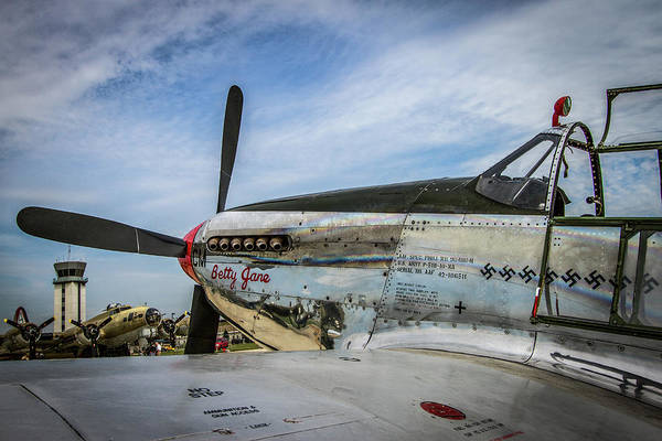 B24 Photograph - P-51 Mustang Fighter by Mike Burgquist