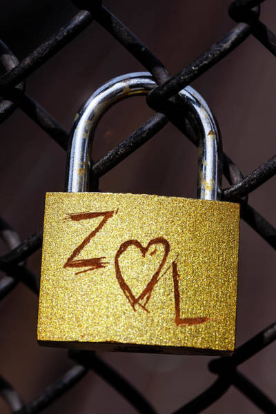 Chain Link Photograph - Padlock And Chain Link Fence by Robert Ullmann