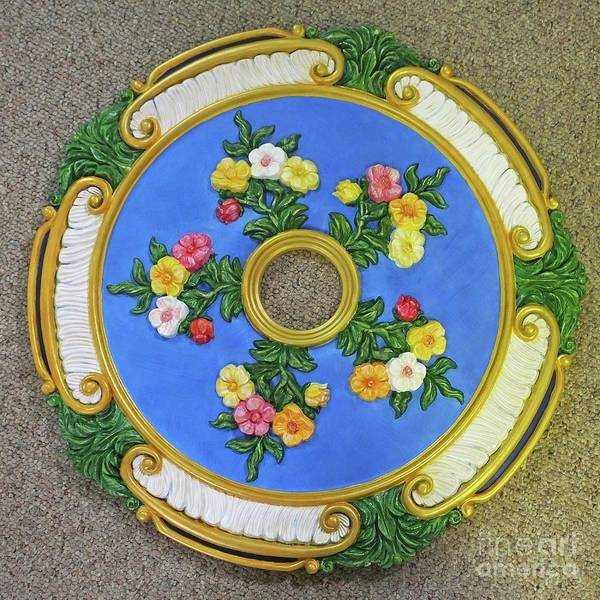 Painting - Hand Painted Ceiling Medallion by Lizi Beard-Ward