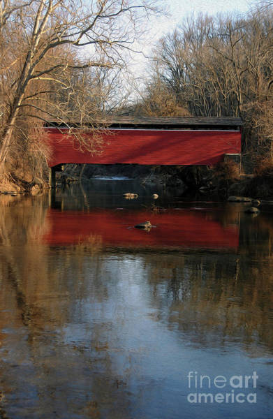 Wall Art - Photograph - Painted Covered Bridge by Skip Willits
