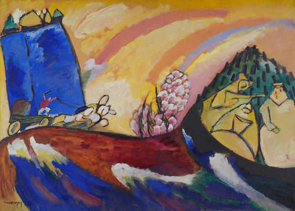 Wall Art - Relief - Painting With Troika by Wassily Kandinsky