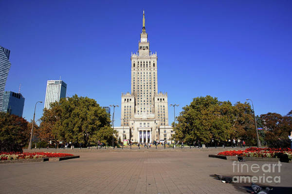 Wall Art - Photograph - Palace Of Science And Culture, Warsaw by Tom Gowanlock