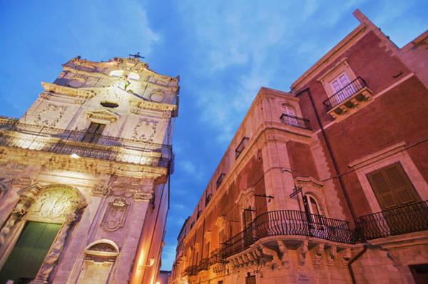 Sicily Photograph - Palazzo Arcivescovile, Piazza Del by Renaud Visage