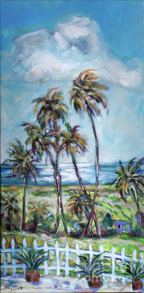 Painting - Palms In The Breeze by Linda Olsen