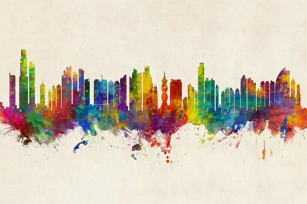 Digital Art - Panama City Skyline by Michael Tompsett