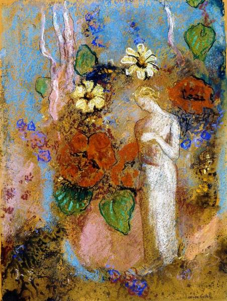 Wall Art - Painting - Pandora - Digital Remastered Edition by Odilon Redon
