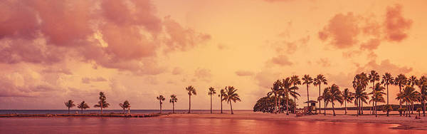 Panorama Beach Miami Art Print by Thepalmer