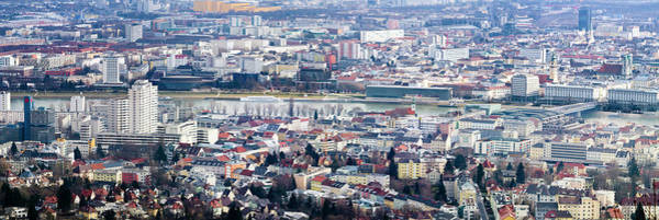 Danube Photograph - Panorama Of Linz by Walter Quirtmair